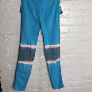 Free People Barely There Blue Tie Dyed Legging